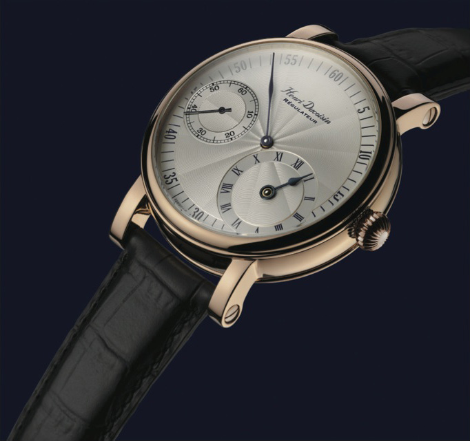 The Régulateur in pink gold form Duvoisin's Regulatory Collection